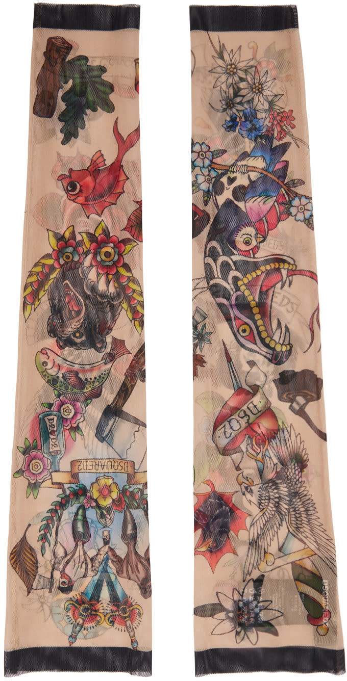 Dsquared2 Multicolor Tattoo Sleeves