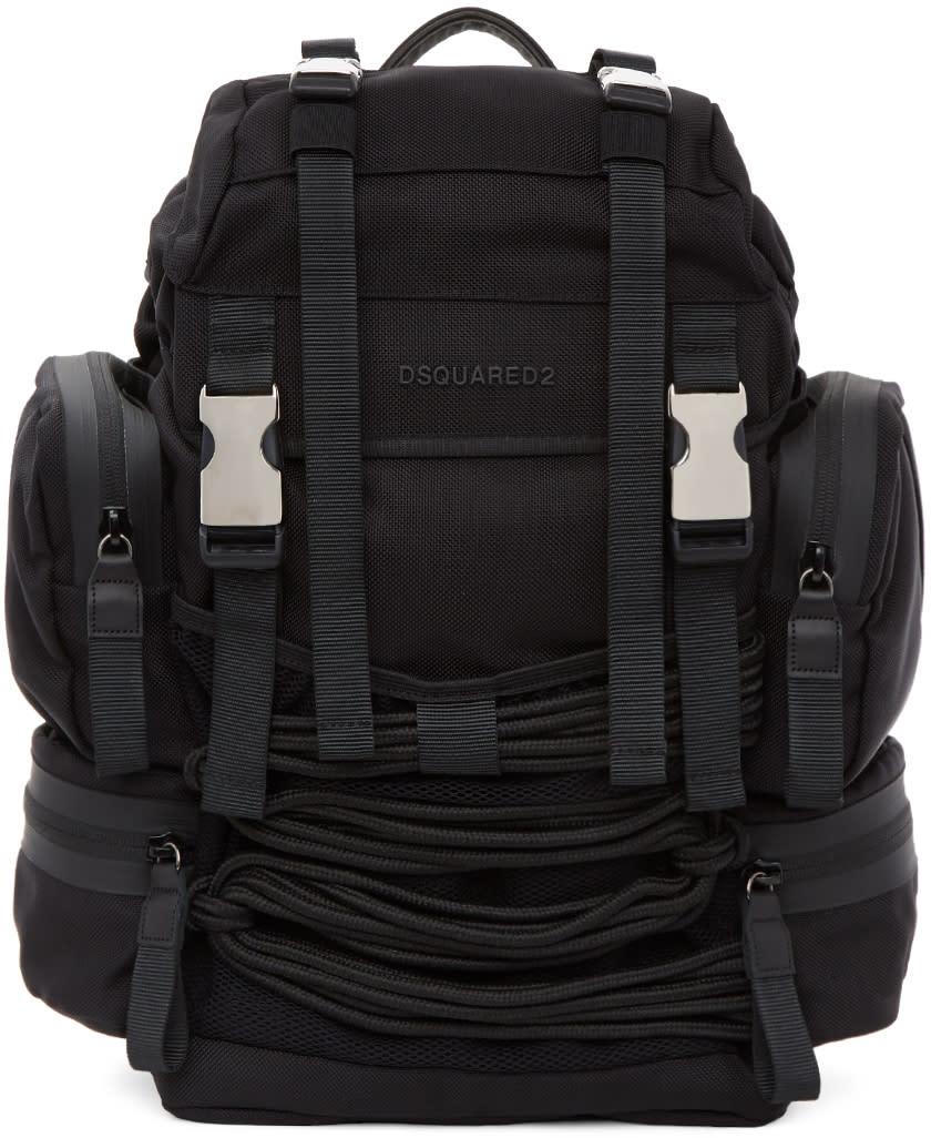 Image of Dsquared2 Black Akira Backpack