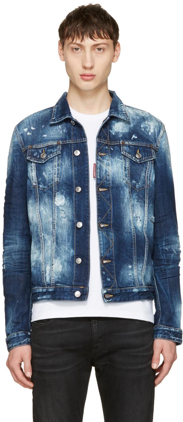 Dsquared2 ブルー デニム ジャケット