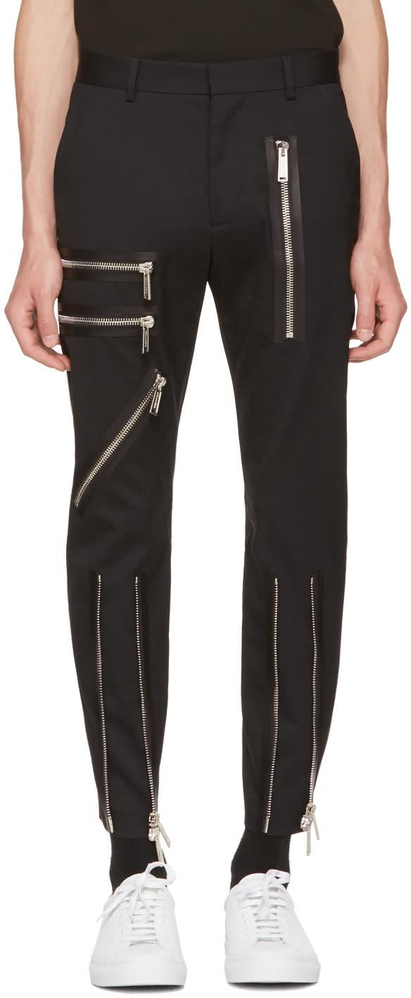 Image of Dsquared2 Black Bondage Trousers