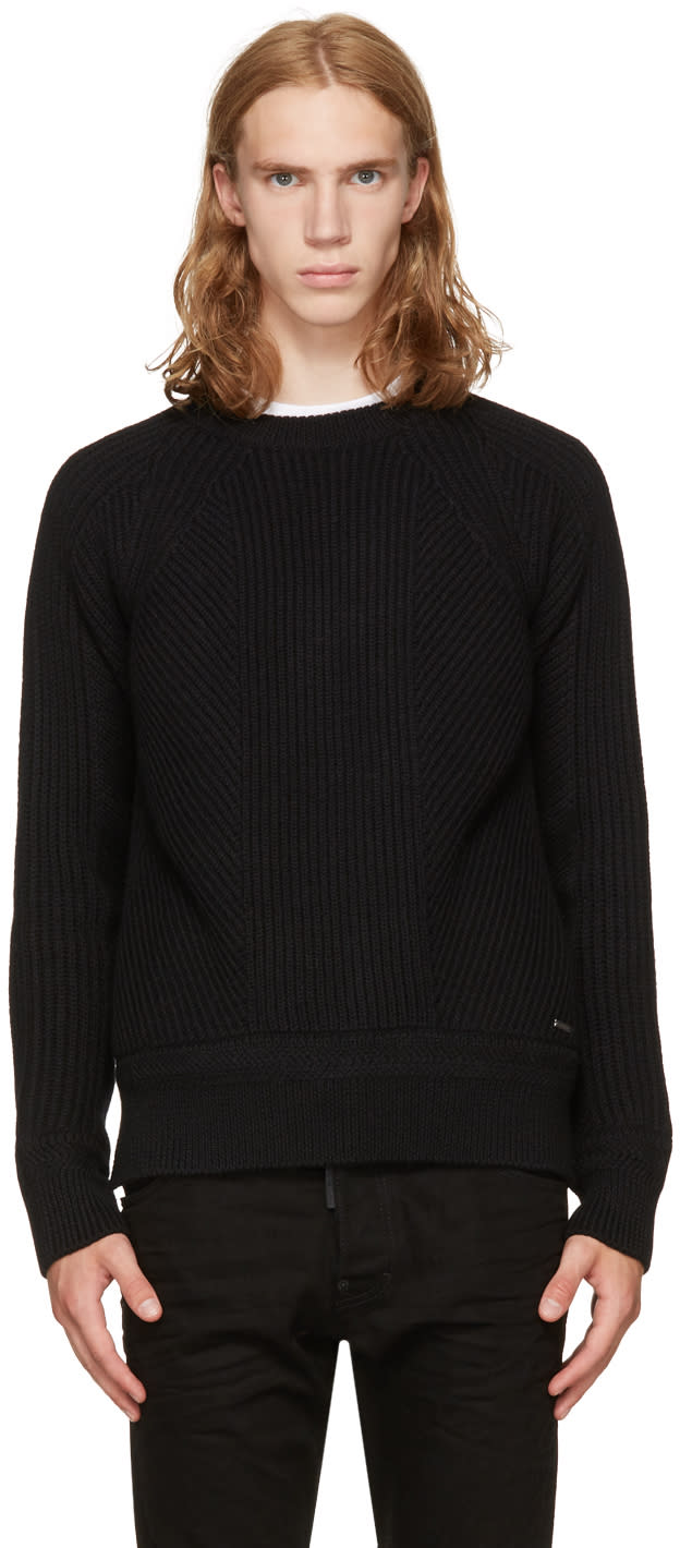 Image of Dsquared2 Black Amish Sweater