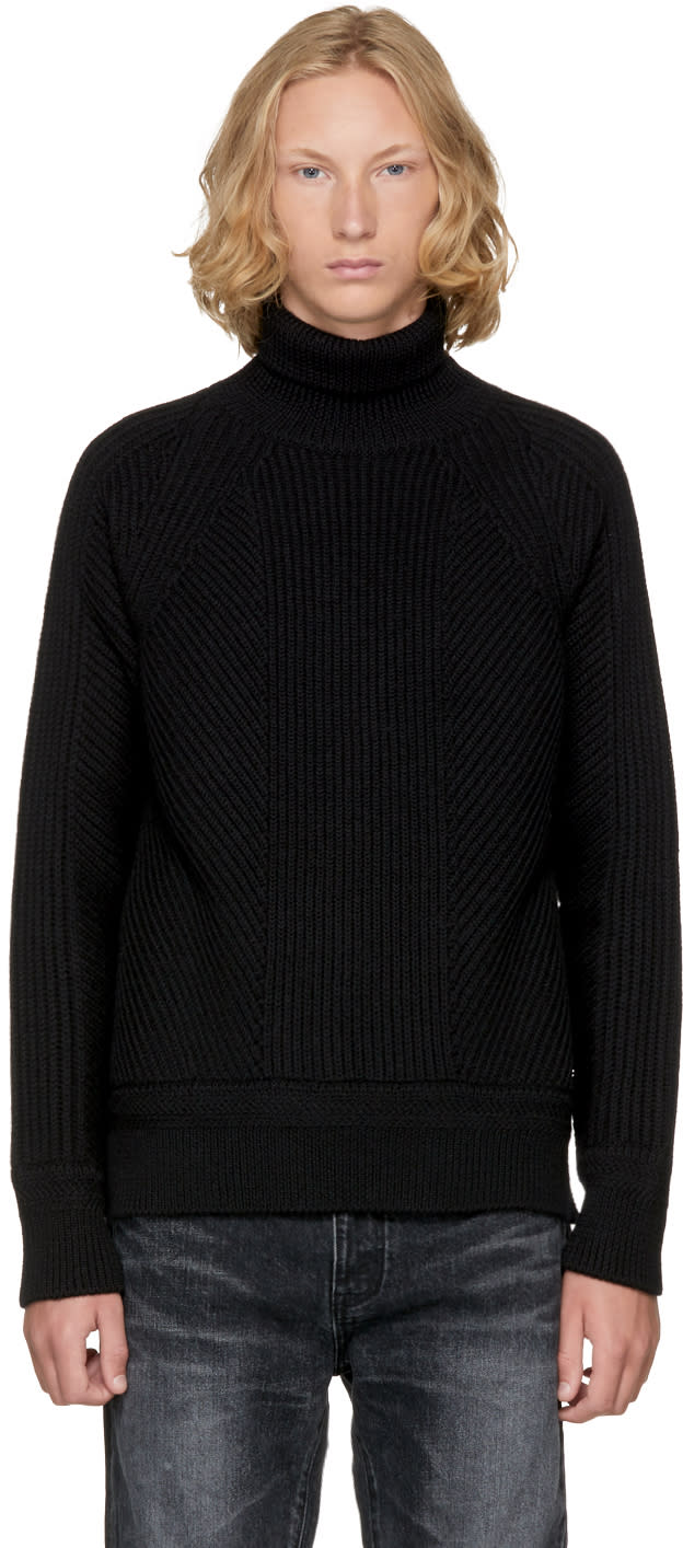 Image of Dsquared2 Black Amish Turtleneck