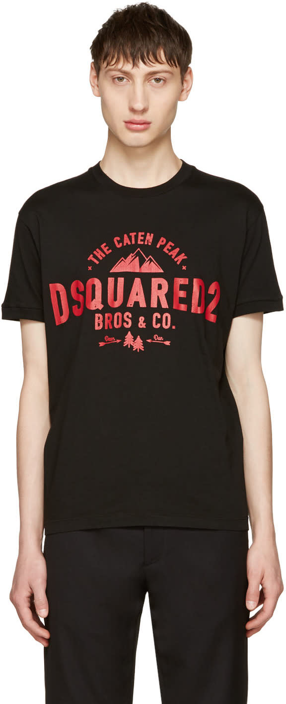 Image of Dsquared2 Black Chic Dan the Caten Peak T-shirt