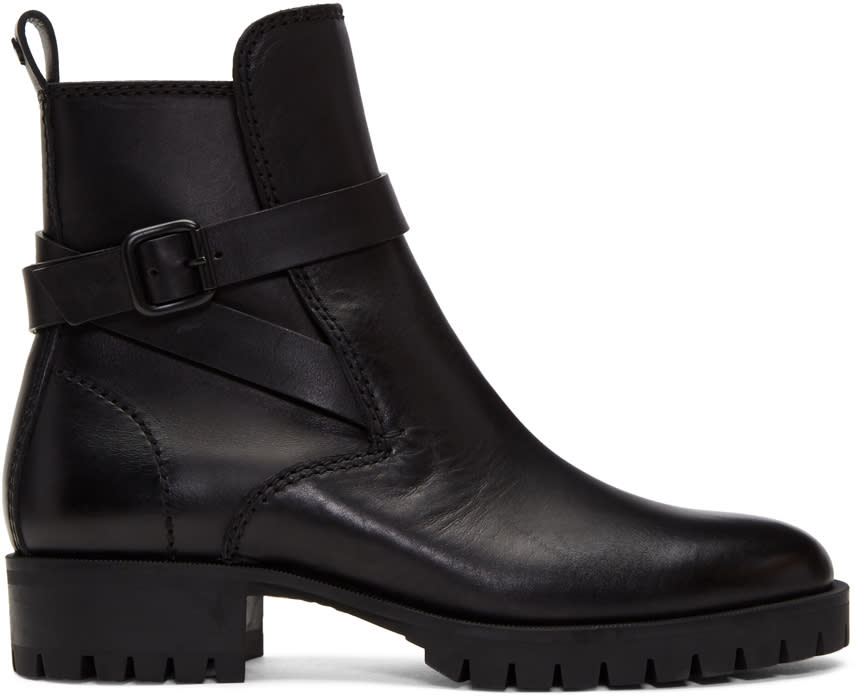 Image of Dsquared2 Black Buckle Boots