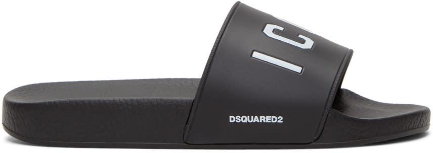 6e0aa0bf6df0f Dsquared2 Black icon Slides