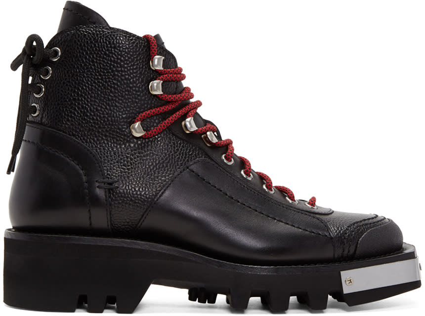 9f36de6997da Dsquared2 Black Lace up Hiker Boots