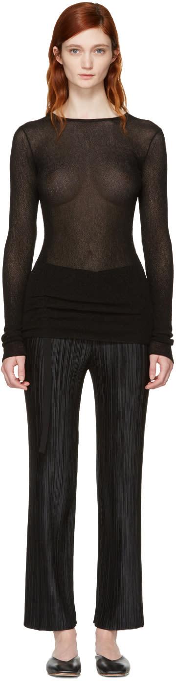 Helmut Lang Black Drawstring Pullover