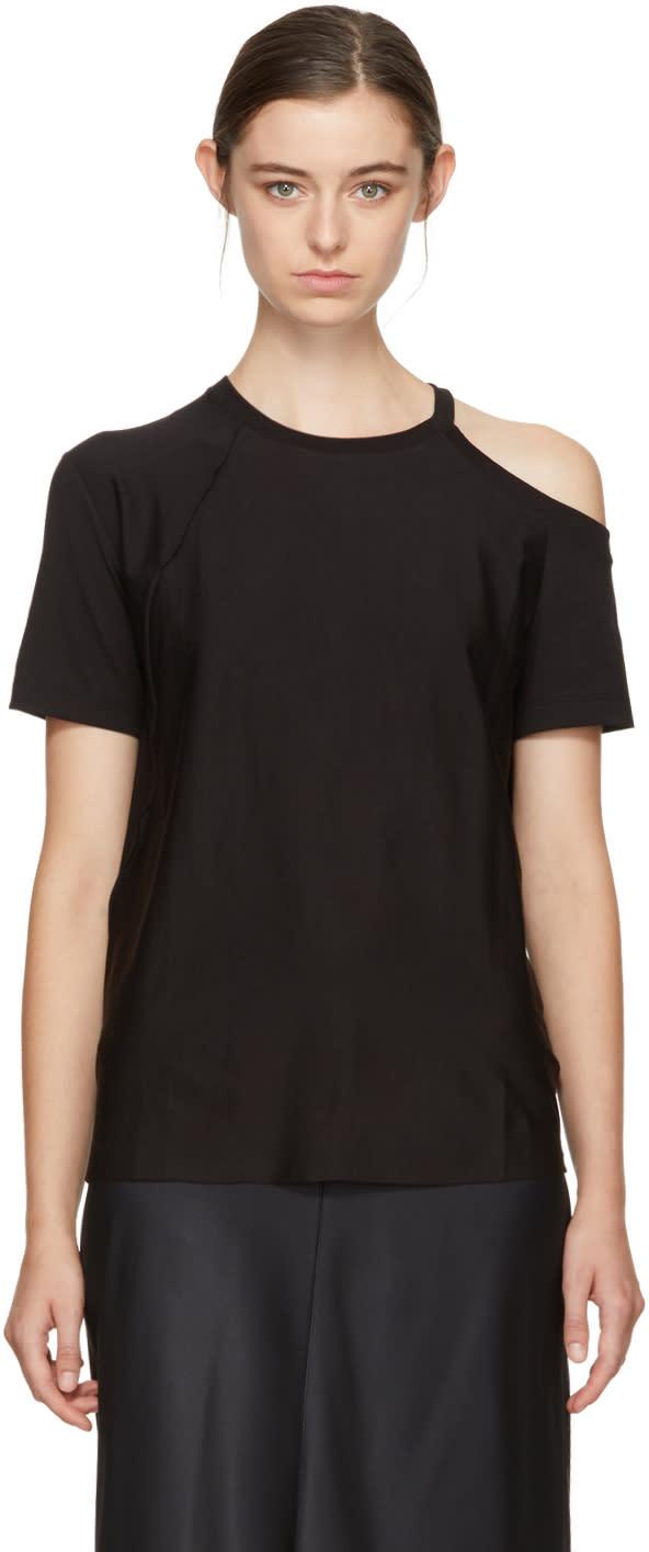 Image of Helmut Lang Black Deconstructed T-shirt