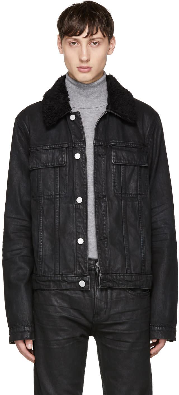 Image of Helmut Lang Black Denim Mr 87 Jacket