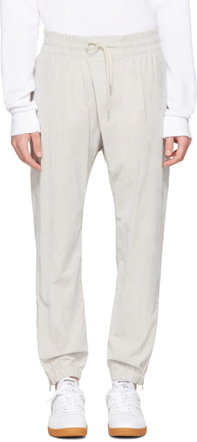 Helmut Lang Grey Overlap Jogger Pants
