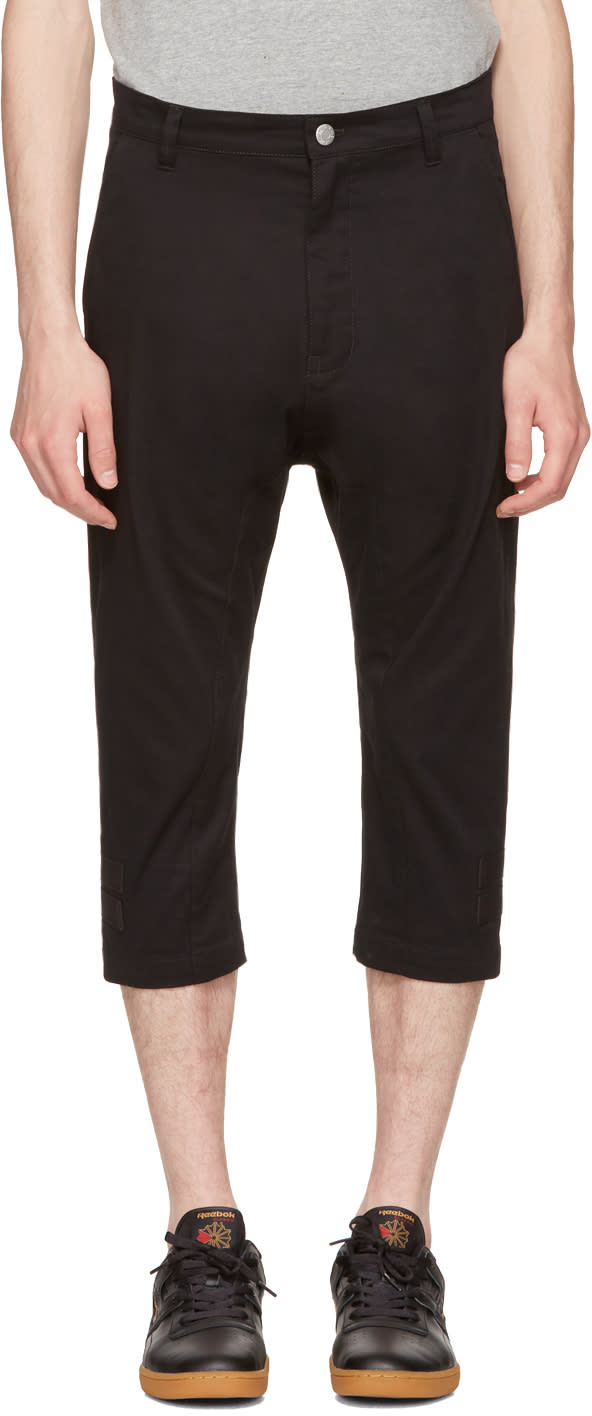 Helmut Lang Pantalon Noir Taped Crop