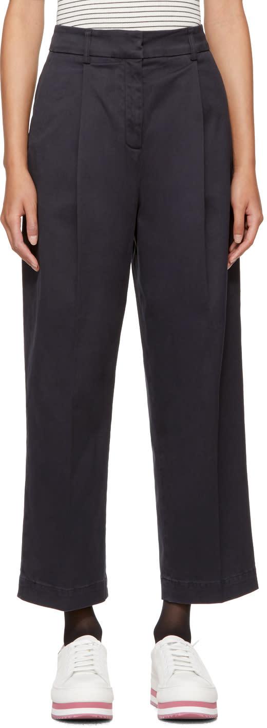 Ymc Pantalon Bleu Marine Market