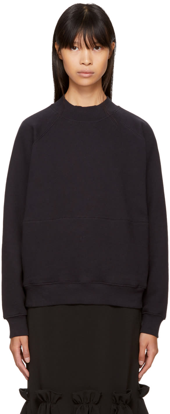 Image of Ymc Black Mock Neck Sweatshirt