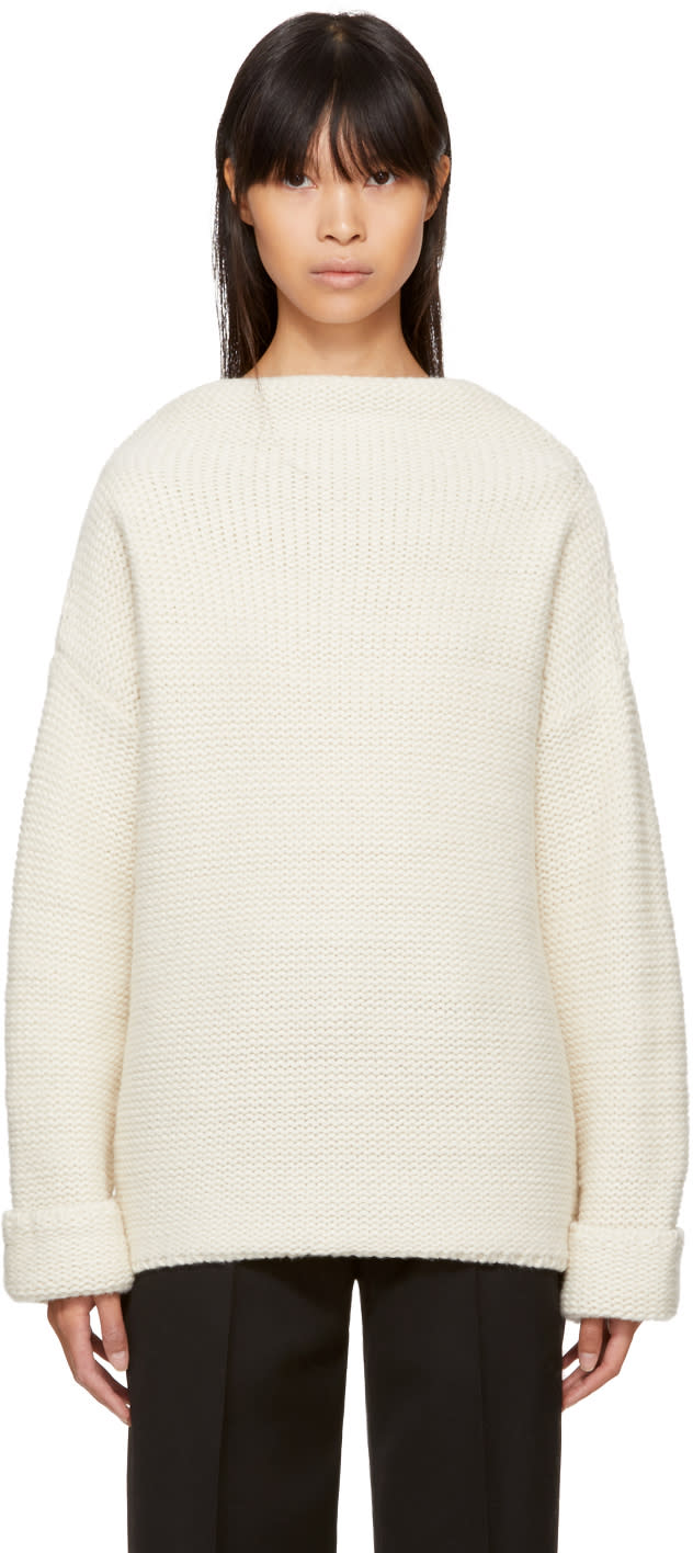 Image of Ymc Ecru Wool Turtleneck