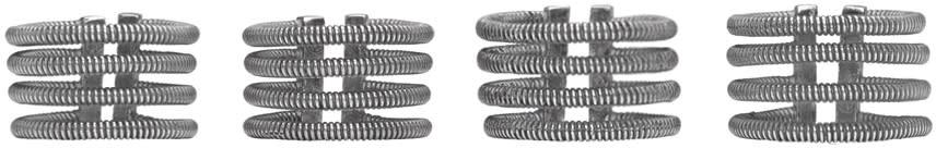 Maison Margiela Set Of Silver Stacked Band Rings