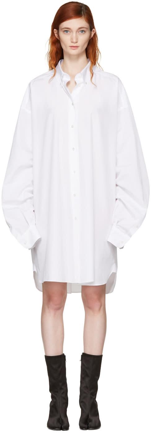 Maison Margiela White Oversized Shirt Dress