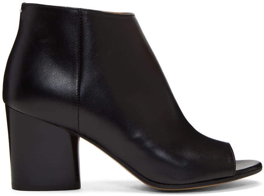 Maison Margiela Black Open Toe Boots