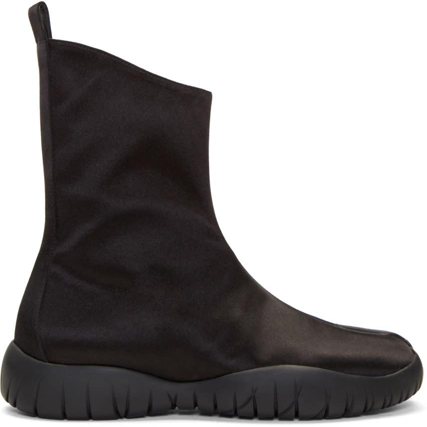 Maison Margiela Black Satin Tabi Boots