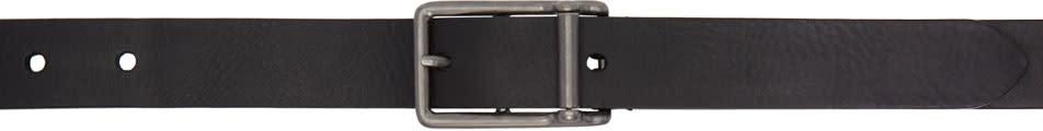 Maison Margiela Black Long Leather Belt