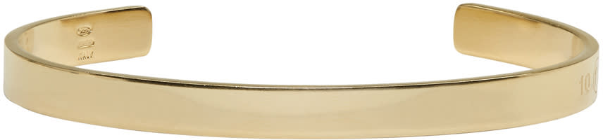 Maison Margiela Gold Cuff Bracelet