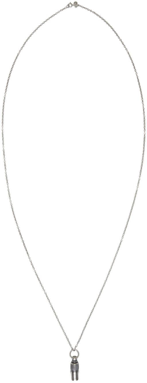 Maison Margiela Silver Vial Necklace