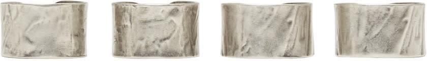 Maison Margiela Set Of Silver Band Rings