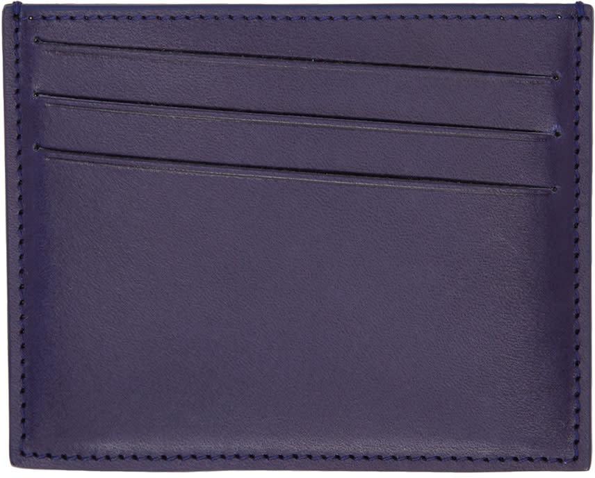 Maison Margiela Indigo Leather Card Holder