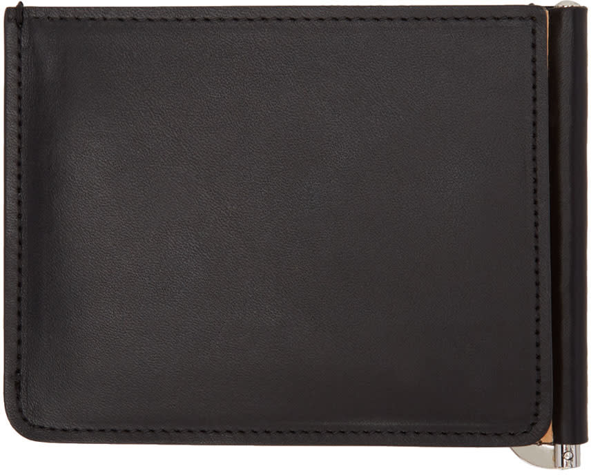 Maison Margiela Black and Beige Trifold Wallet