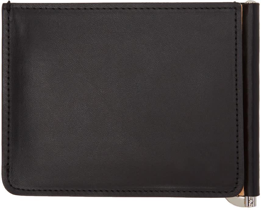 Image of Maison Margiela Black and Beige Trifold Wallet