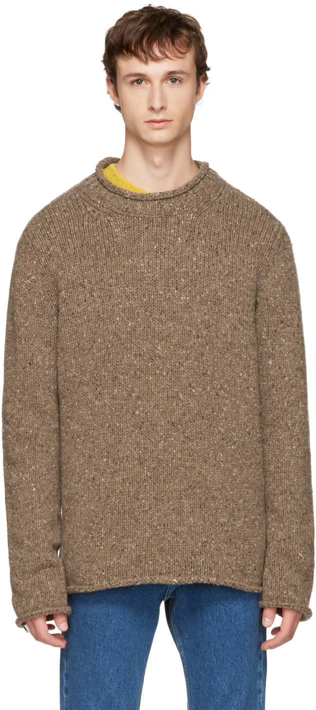 Image of Maison Margiela Beige Donegal Sweater
