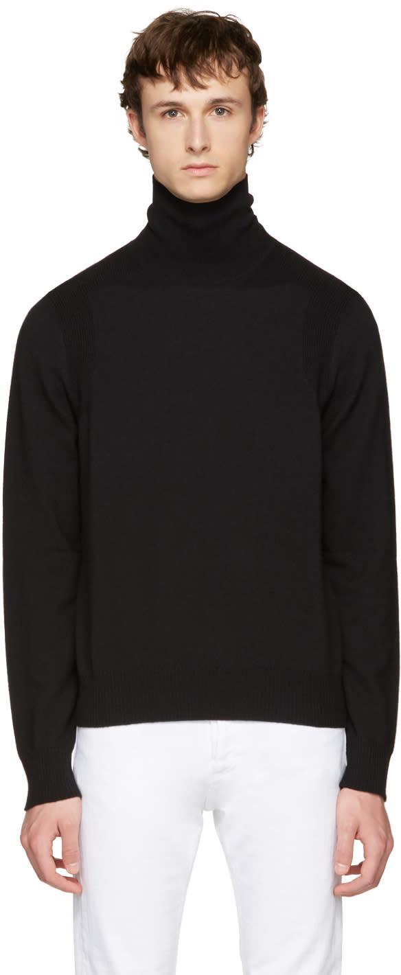 Maison Margiela Black Wool Turtleneck