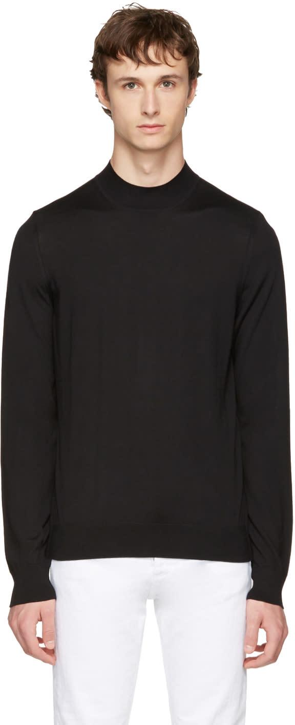 Maison Margiela Black Mock Neck Sweater