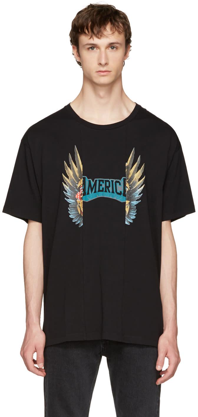 Maison Margiela Black Oversized Graphic T-shirt