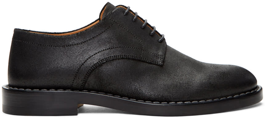 Maison Margiela Black Leather Derbys