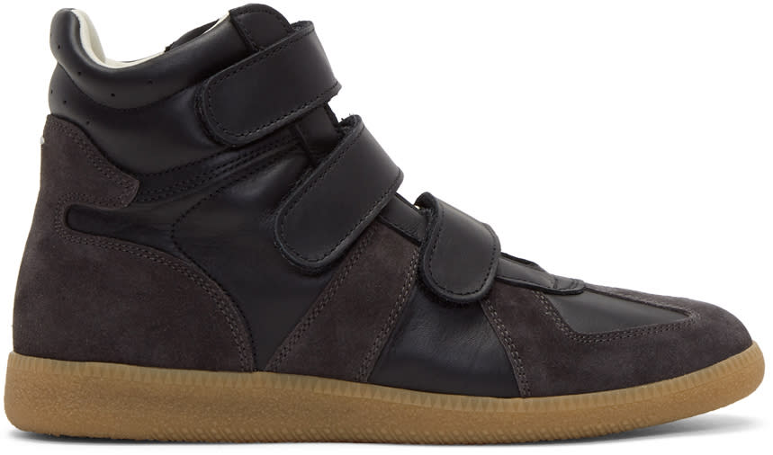 Maison Margiela Black Velcro Replica Sneakers