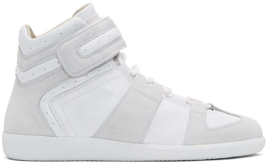 Maison Margiela White Velcro Wrestler Sneakers