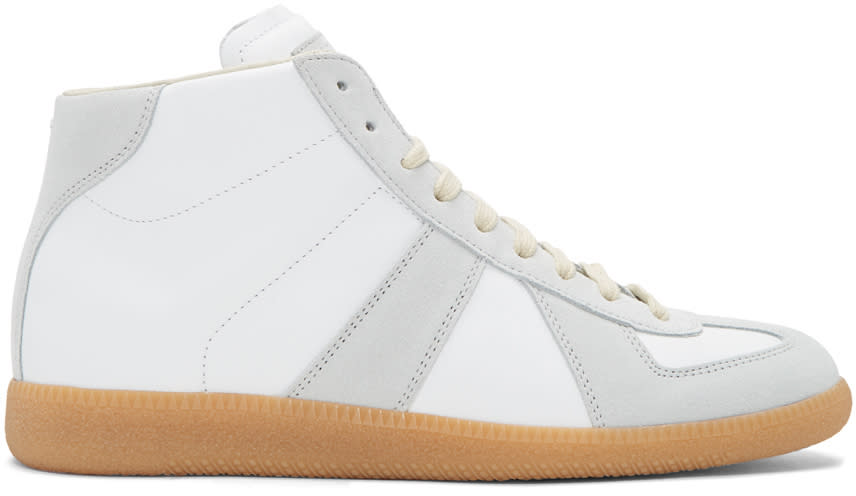 Maison Margiela White Replica Mid-top Sneakers