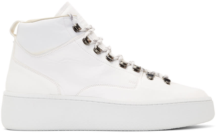 Maison Margiela White Summit Hiking High-top Sneakers