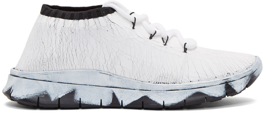 Maison Margiela White Painted Sneakers