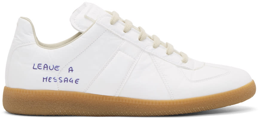 Maison Margiela White Replica Pen Sneakers