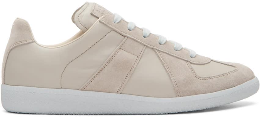 Image of Maison Margiela Beige Replica Sneakers