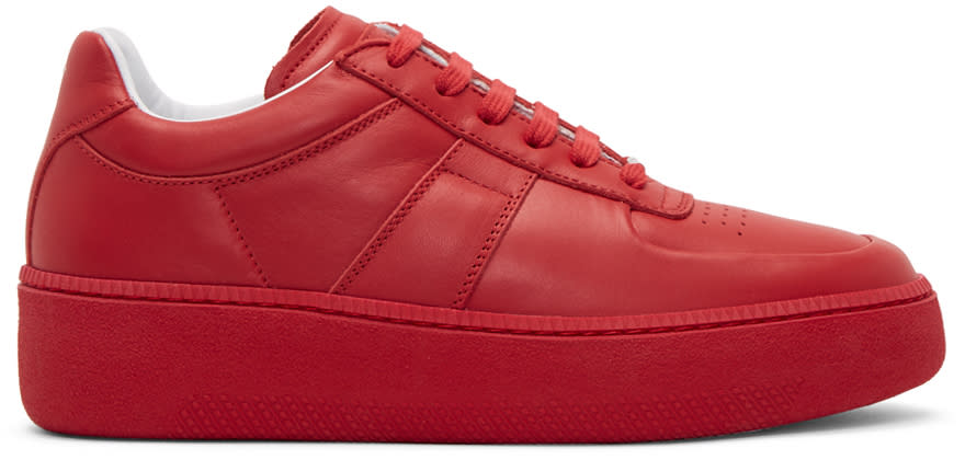 Maison Margiela Red Chunky Sole Sneakers
