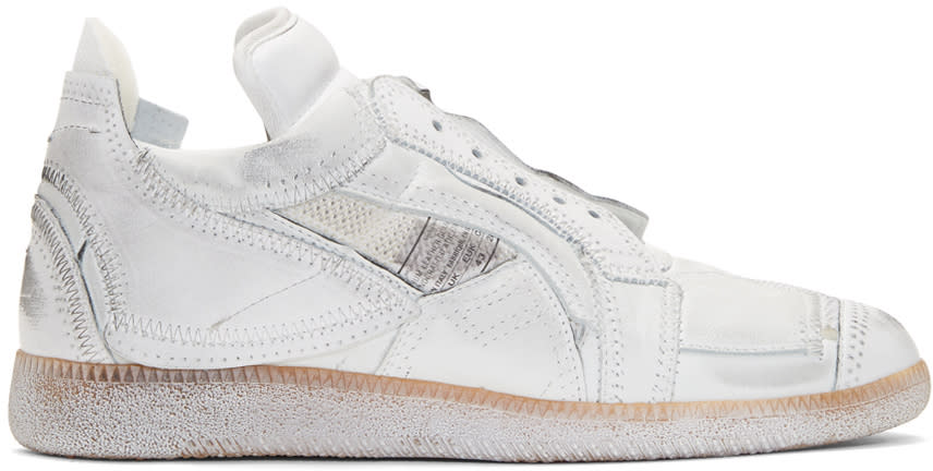 Maison Margiela White Limited Edition Mixed Patchwork Sneakers