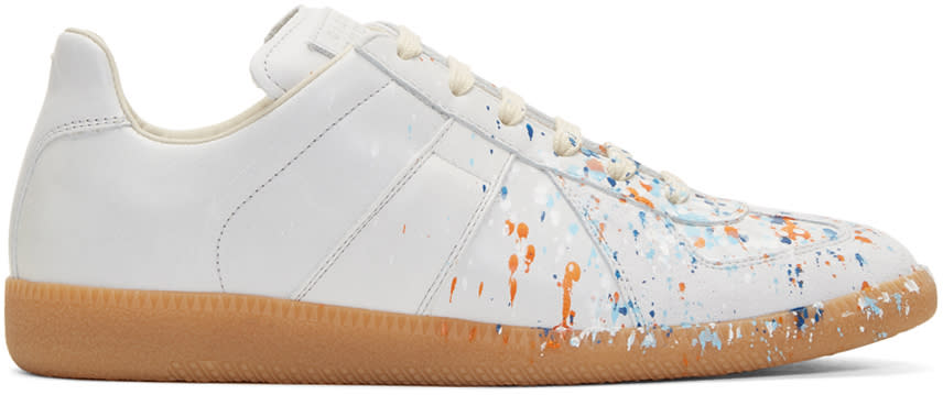 Maison Margiela Off-white Paint Splash Replica Sneakers