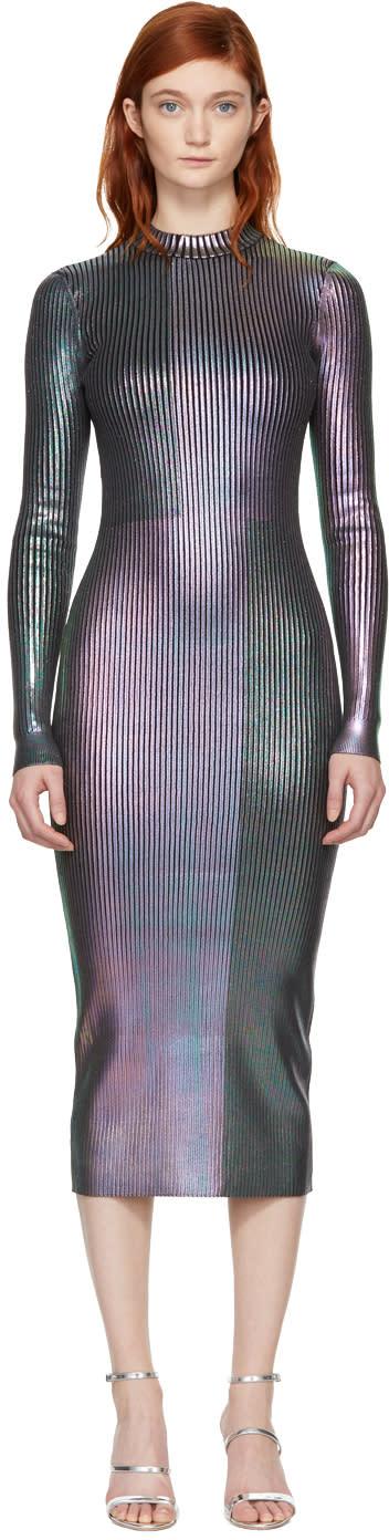 Christopher Kane Multicolor Long Foil Dress
