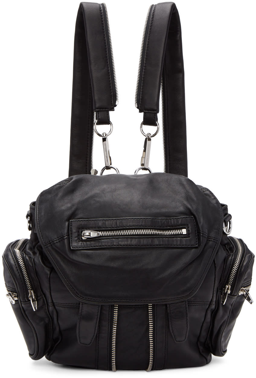 Image of Alexander Wang Black and Silver Mini Marti Backpack