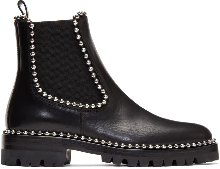 Alexander Wang Black Spencer Chelsea Boots