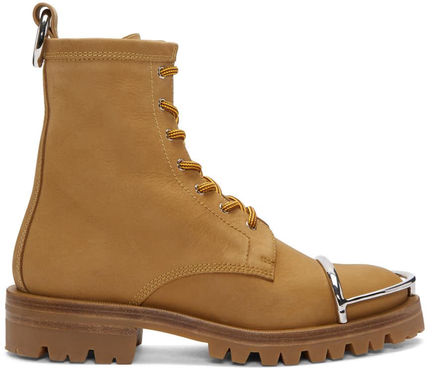 Alexander Wang Tan Nubuck Lyndon Boots