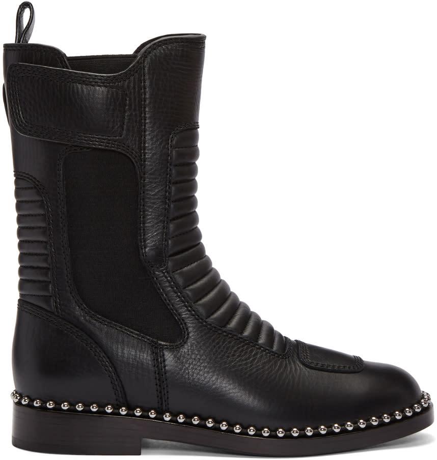 Alexander Wang Black Mica Ball Stud Boots