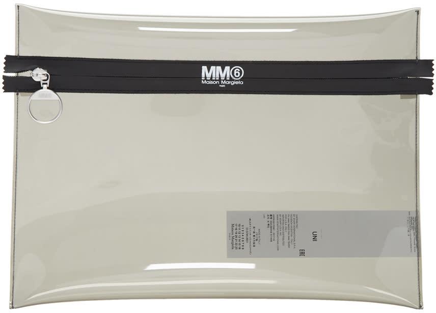Mm6 Maison Margiela Grey Pvc Pouch